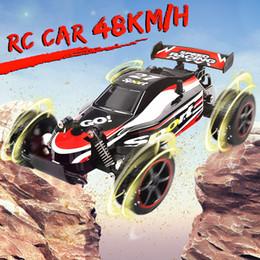 1:20 48 km / h Car RC Carro de Controle Remoto 2.4G de Alta Velocidade para o Presente Dos Miúdos 80 M de Distância Controlado Por Rádio Carro Máquina de Brinquedo RC Carros em Promoção