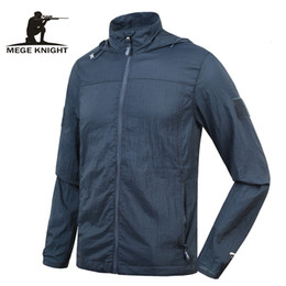Uv protection clothing online shopping - Mege Brand Clothing New Super Light Summer Jacket for Men Military Camouflage UV Protection Quick Dry Jacket summer windbreaker SH190918