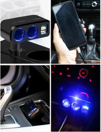 multi plug socket usb UK - Car cigarette lighter one tow three car charger socket multi-functional power conversion plug one tow two distributor
