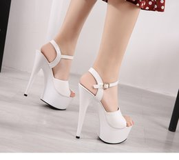 women canvas dance shoes NZ - Sandals Shoes Woman Clear Heels Platform 2019 Beach Sexy Sandals Wedding Shoes Steel Tube Dancing Girl Stripper Shoes Open Toe Y19070303