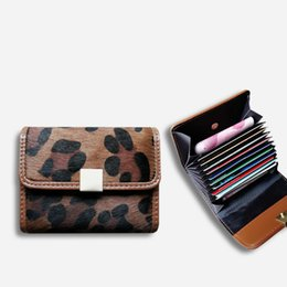 $enCountryForm.capitalKeyWord UK - Leopard Women Wallet Genuine Leather Horse Hair Business Bank ID Credit Card Holder Female Pock Purse Money Bag Handbag