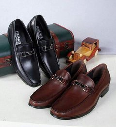 $enCountryForm.capitalKeyWord Australia - 2209 Classic Business Big Board Leather Men Dress Moccasins Loafers Lace Ups Boots Drivers Sneakers Shoes
