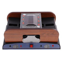 Poker High Cards Australia - 2018 New B Poker Playing Cards Wooden Electric Automaoard Gametic Card Shuffler Entertainment Gaming Playing Cards High Quality