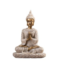resin buddhas wholesale Australia - Resin Unique Buddha Figure Thailand Feng Shui Sculpture Buddhism Statue Budda Happiness Ornaments for Home Decor Gifts
