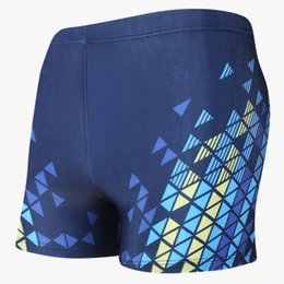Chinese  2019 Men Swimwear Waterproof Swimming Trunks Push Up Bathing Suit Man Diving Swimsuit Briefs Big Size Summer Beach Sport Shorts manufacturers