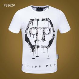 $enCountryForm.capitalKeyWord Australia - P brand designer T-shirt 2019 latest European and American fashion skull diamond T-shirt quality 100% cotton round neck Slim T-shirt 19ss
