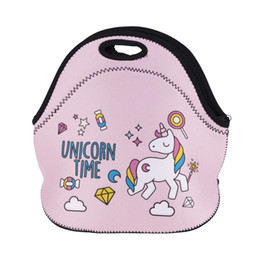 picnic backpack wholesale Australia - Unicorn Lunch Bag Thermal Insulated 3D Print Bags Emoji Waterproof Handbag Lunch Box Food Picnic Bag for Women Kid Cooler Insulation Storage
