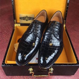 $enCountryForm.capitalKeyWord NZ - Fancy Authentic Crocodile Belly Skin Businessmen's Dress Shoes Genuine Real Alligator Leather Handmade Male Black Lace-up Shoe