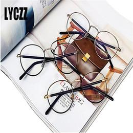 $enCountryForm.capitalKeyWord Australia - LYCZZ Print Women Eyewear Brand Designer Round Alloy Frame For Man Optical Clear Len Glasses Frame Retro Eyeglasses Frames Geek