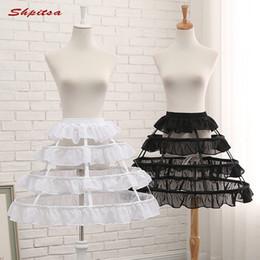 $enCountryForm.capitalKeyWord Australia - Black or White 3 Hoop Short Petticoats for Wedding Lolita Rockabilly Girl Fluffy Woman Underskirt Crinoline Pettycoat Hoop