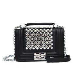 Trendy women s messenger bags online shopping - Fashion Trendy Chains Bag Female Famous Luxury Handbag Women s Purse Crossbody Messenger Diamond Shoulder Bags