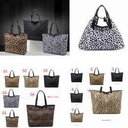hand bags leopard prints NZ - 6styles Leopard Hand Bag For Women Handbag Large Capacity Shoulder Bag Zipper Lady Tote Bags Leopard fashion Women Bags FFA3107