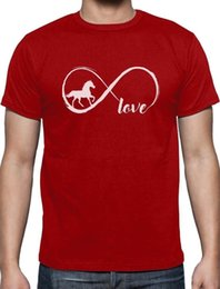 Red Black Grey Shirts Australia - Gift For Horse Lover Infinite Love T-Shirt Infinity Symbolwhite black grey red trousers tshirt