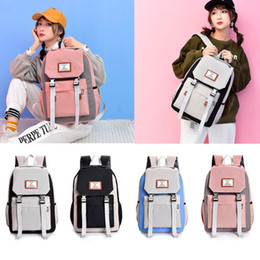 Blocks For Girls Australia - Women Large-capacity Couple Schoolbag Fashion Anti Theft Travel Hiking Color Block Backpack Female For Girl