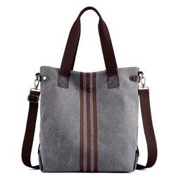$enCountryForm.capitalKeyWord Australia - Vintage Canvas Ladies HandBags Women Messenger Bags Totes Striped Designer Shoulder Bag Boston Hand Bags Hot Sale