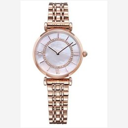 $enCountryForm.capitalKeyWord Australia - Rose Gold Woman Diamond Shell Dial Watches AR Luxury Nurse Ladies dresses female Butterfly buckle Bracelet Wristwatch gift for girls 5 style