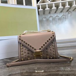 $enCountryForm.capitalKeyWord Australia - 2019 women's hot sale screw rivet shoulder bag, women's candy color leather crossbody bag, metal decorative semi-finished bag, top cover poc