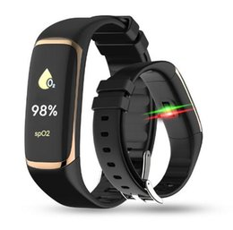 phone bracelets UK - P9 Blood Oxygen Wristband with Blood Pressure Fitness Tracker Smart Bracelet function for IOS and Android