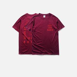 $enCountryForm.capitalKeyWord Australia - men's t-shirts summer i feel like pablo Tee short Sleeve O-neck T-Shirt Kanye West Letter Print casual tees male clothing plus size 3XL