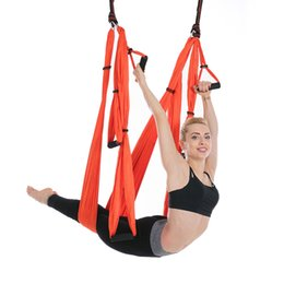 Sports & Entertainment Fitness & Body Building Yoga Hammock Top Quality Yoga Flying Swing Anti-gravity Hammock Training Sling Yoga Swing Extension Strap Fitness Equipment Latest Fashion