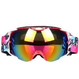 ski goggles anti fog 2019 - Unisex Anti-fog Double Layer Lens Ski Goggles Windproof Ski Glasses cheap ski goggles anti fog