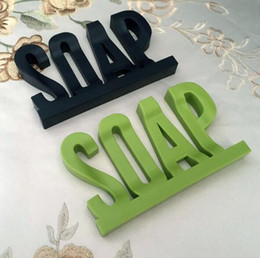 $enCountryForm.capitalKeyWord NZ - Letter Shape Soap Dish Holder Hollow Non Residue with Water Soap Shelf with Suction Cup Sucker Sponge Debris Storage Dish Free Shipping