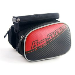 B Touch Mobile Phone UK - B-SOUL Waterproof Bicycle Front Touch Screen Phone Bag MTB Road Bike Cycling Mobile Bag Cycle Front Cellphone