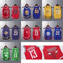 BaBy summer star online shopping - 2019 New sales of American basketball superstar basketball star custom basketball integrated vest sportswear for baby