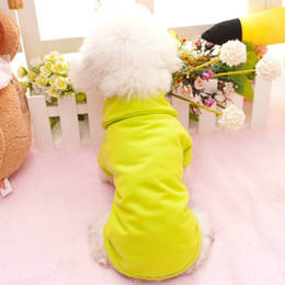 $enCountryForm.capitalKeyWord Australia - Spring and summer clothes simple breathable multi-color pet clothes Teddy dog pure color polo shirts T-shirts Baitie factory direct sales