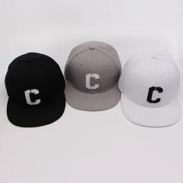 $enCountryForm.capitalKeyWord Australia - Embroidery C Snapbacks Hats Letter Baseball Caps Black White Hip Hop Brim Straight Hat Color Summer Mens Women