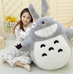 Soft Toys Prices Australia - 1pcs 55cm Cartoon Movies Item Totoro Smiling Soft Plush Toys High Quality Brinquedos Dolls Factory Price Home Decoration Gift