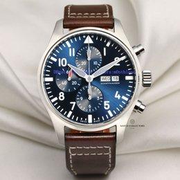 China Unworn Full-Set Upgraded version Prince Luxury Wristwatch 46MM Big Pilot Blue Dial 377714 Automatisch work 7750 Chronograph Men's Watches supplier pilot watch dial suppliers