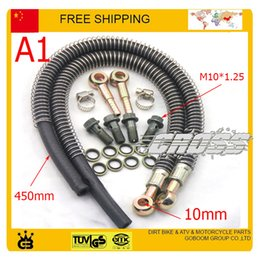 dirt bike quads atv NZ - 125cc 140cc 150cc 160cc dirt pit monkey bike atv quad accessories Modified motorcycle radiator oil cooler hose pipe M10 screw