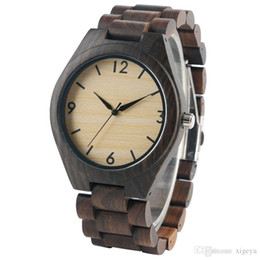 luxury watches drop ship Canada - Newest Luxury Watch for Men Women Full Nature Bamboo Wood Quartz Watches Casual Analog Cool Novel Hour Clock Wristwatch Drop Shipping