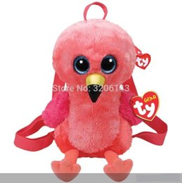 "$enCountryForm.capitalKeyWord NZ - TY Gear Backpack - GILDA the Flamingo 13"" 32cm Plush Shoulder Backpacks Plush Soft Toy Collectable Adjustable Straps with Tags"