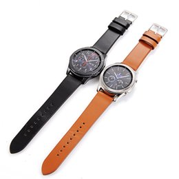 Browning Gear Australia - Newest 22mm Genuine Simple Leather Watch Band Strap For Samsung Gear S3 Classic Frontier Watchbands For Samsung Galaxy Watch