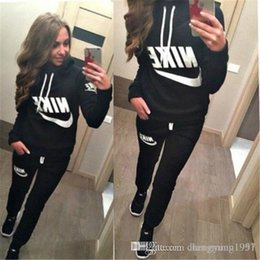 $enCountryForm.capitalKeyWord Australia - 2019 New Women active set tracksuits Hoodies Sweatshirt +Pant Running Sport Track suits 2 Pieces jogging sets free shipping