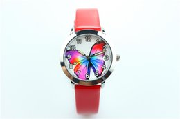 pink color watches UK - 2019 new spot watch cartoon luminous pointer quartz watch foreign trade fashion children's butterfly leisure sports belt watch