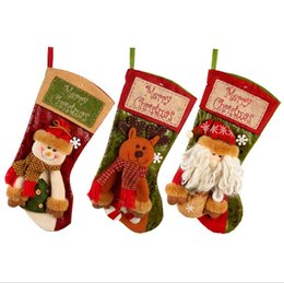 $enCountryForm.capitalKeyWord UK - Christmas Stocking Santa Candy Gift Bag Candy Socks Xmas Tree Ornament Christmas Decorations Reindeer Santa Claus Snowman 5 Designs DHW1455