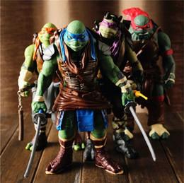 Turtles Figures Australia - [TOP] 4pcs lot Big Size 30cm NECA Mutant Turtles Movie Leonardo Raphael Michelangelo Donatello Model doll Action Figures toy