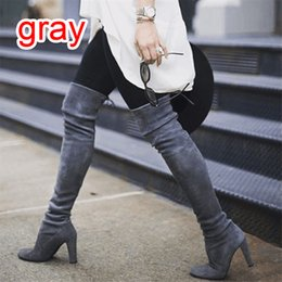 $enCountryForm.capitalKeyWord Australia - WENYUJH Drop Shipping 2019 Women's Sexy Low Block Heel Shoe Over-knee Boots Short Boots Casual Shoes For Buckle Shoes Ladies