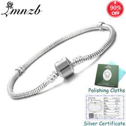 $enCountryForm.capitalKeyWord Australia - Sent Certificate! Original 925 Solid Silver Charm Bracelets For Women Long 16-23cm Snake Bone Bracelets Wedding Jewelry Zsl005 MX190718