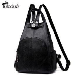 teenage bags for high school 2019 - Fashion Women Backpack High Quality Youth Leather Backpacks for Teenage Girls Female School Shoulder Bag Three Colors Ba
