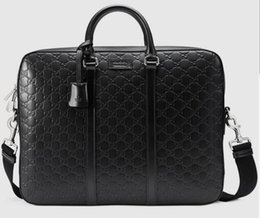 Luxury designer briefcase online shopping - 2019 New Leather Briefcase Luxury Men Messenger Bags Top Quality Mens Shoulder Bag Famous Designer Totes Duffels Male Cross Body Bags