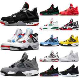 $enCountryForm.capitalKeyWord Australia - Top 4 Men Basketball Shoes 4s Cool Grey OG Bred For 2019 White Cement Mens Designer Trainer Sport Sneaker Cheap Size 41-47