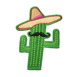 patches for clothes free shipping NZ - New Cartoon Cowboy Cactus Embroidered Iron On Patches For Clothes Sew On DIY Custom Applique Free Shipping