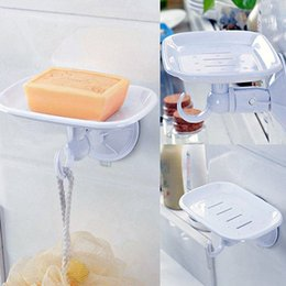 $enCountryForm.capitalKeyWord Australia - Durable Suction Cup Plastic Wall Soap Holder Dish Basket Tray Bathroom