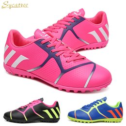 069d3d68a1be Sycatree 2019 Kids Soccer Shoes for Girls Boys Children Women Turf Indoor  Futsal TF Football Boots Teenager Training Sneakers
