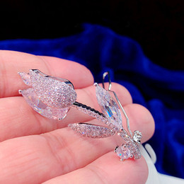$enCountryForm.capitalKeyWord Australia - New High quality Silver Zircon hairpin clip girl bangs clip-encrusted word clip hair accessories headdress gift