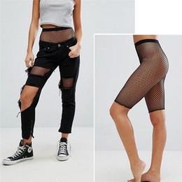 $enCountryForm.capitalKeyWord Australia - Sexy Women Sporty Fishnet Mesh Legging Women Casual Fitness Jeggings Ladies Elastic Waist Pants Block Mesh Insert Leggings